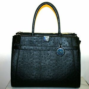 Guess Ostrich Satchel Tote